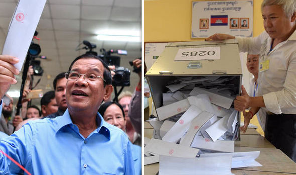 Prime Minister Hun Sen's party in Cambodia has claimed 125 seats in the general election