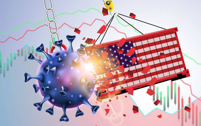 Coronavirus causes US GDP growth to slow to 4.8% year-on-year