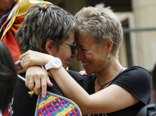 Gay marriage is now declared legal in Colombia