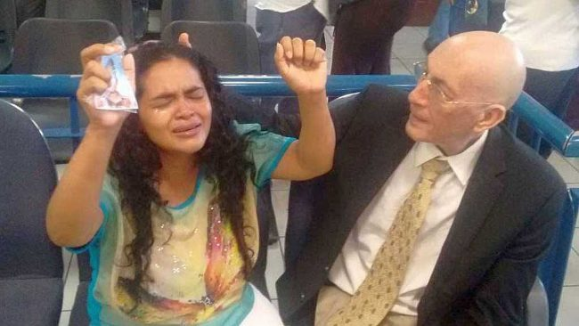 Yesterday, Maria Teresa Rivera was released after 5 years in prison