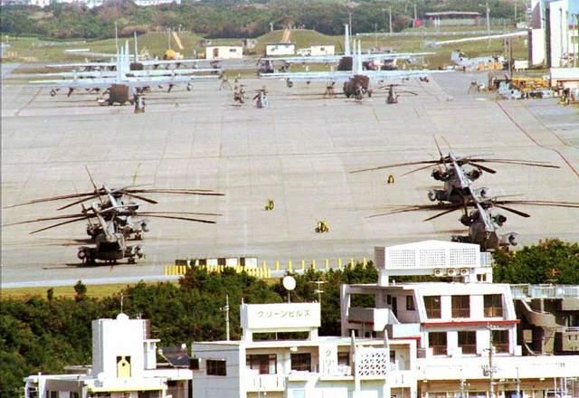 US Futenma base in Okinawa Ginowan City