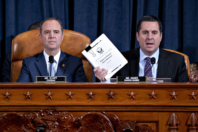 The House Intelligence Committee on Tuesday released its report on impeachment proceedings against President Donald Trump