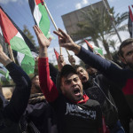 Thousands of Palestinians reject US-Israeli peace plan in occupied Gaza