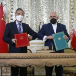 A 25-year cooperation agreement between Iran and China was signed in Tehran on Saturday.