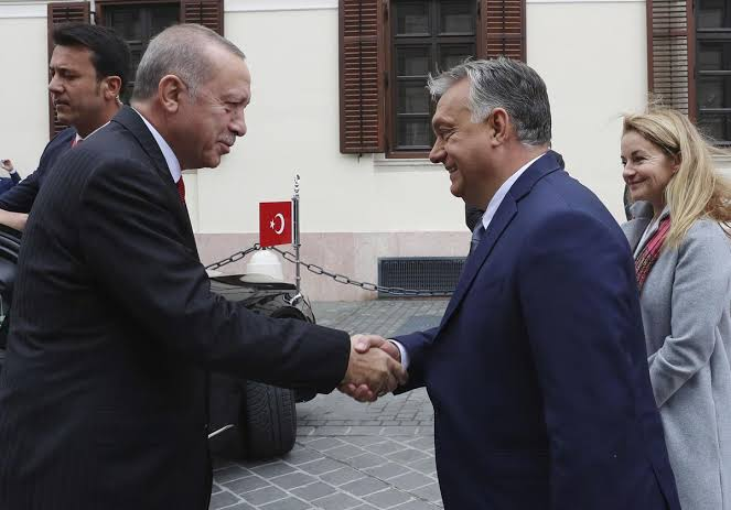 Hungarian Prime Minister Viktor Orban and Turkish President Recep Tayyip Erdogan