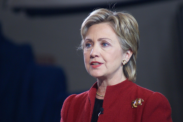 Hillary Clinton in the 2015 Forbes list, there are second
