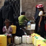 Yemen, an estimated 60 million people in the war deprived of clean water