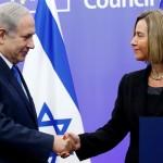 EU foreign policy chief Federica Mogherini and Israeli Prime Minister Benjamin Netanyahu