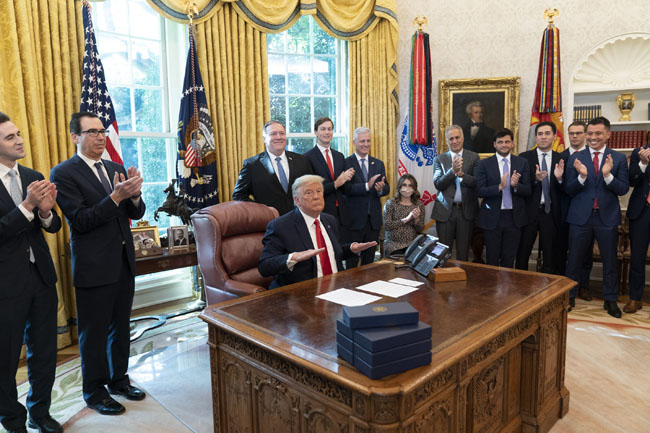 US President Donald Trump, Israeli Prime Minister Netanyahu and Sudanese Prime Minister have decided to establish diplomatic relations.