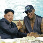 Retired US basketball player Dennis Rodman and head of North Korea Kim Jong Un