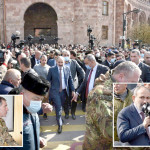 Armenian Prime Minister Nikol Pashinyan is gaining public support in the streets of the capital after the army chief was fired for plotting a coup.