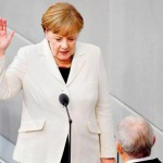 Angela Merkel, taking oath of German Chancellor for the fourth time