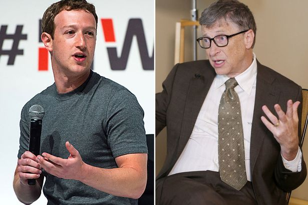 Microsoft founder Bill Gates and Facebook CEO Mark Zuckerberg