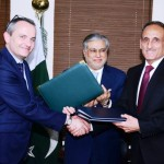 Pakistan's Federal Board of Revenue chairman Dr Mohammad said Swiss Ambassador Marc George signed the agreement