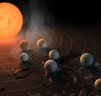 Earth around a star where life could be good for the environment, announced the discovery of 7 planets