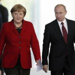 German Chancellor Angela Merkel and Russian President Putin