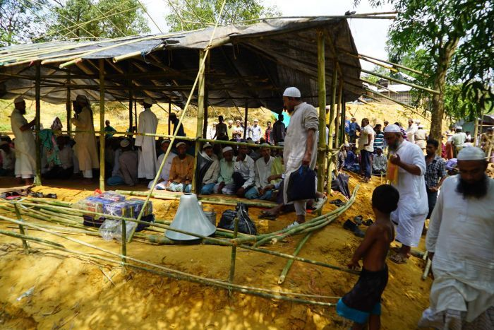 The Bangladeshi government was troubled by Rohingya refugees by building mosques in the camps