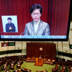 Hong Kong government has drafted a law requiring council members to take an oath of allegiance to the Chinese constitution and the region's basic law.