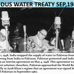 World Bank arbitration of the Indus Water Treaty was signed on 19 September 1960 between Pakistan and India