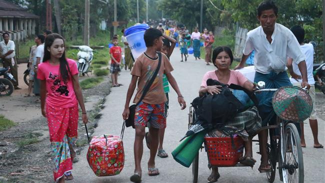 At least 130 have been torched and 130 Rohingya Muslims in the Rakhine village during the military operation