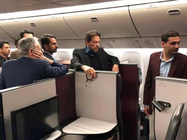 News about Prime Minister Imran Khan's departure from New York and use of Saudi Arabia's plane for technical breakthroughs