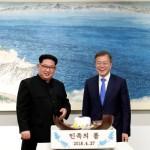 North Korea head Kim Jong-un and President of South Korea Moon Jae-in