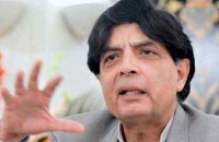 Former interior minister Chaudhry Nisar Ali Khan