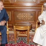 Sultan Qaboos of Oman and Zionist Prime Minister Benjamin Netanyahu