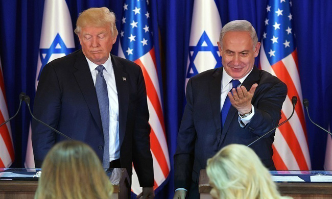 """On January 28 this year, Trump announced a Middle East peace plan, saying that Jerusalem would remain Israel's """"undivided capital."""""""