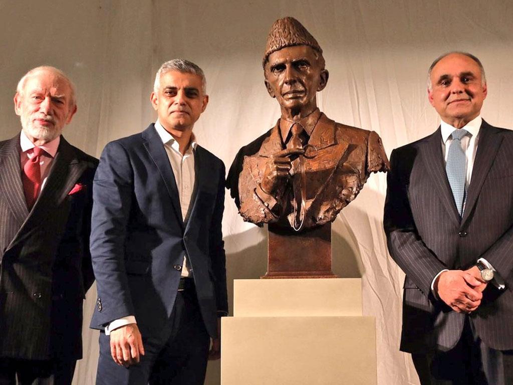 Quaid-e-Azam Muhammad Ali Jinnah's Sculptures of ceremony at the British Museum