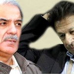 Tehreek-e-Insaf chairman Imran Khan and PML-N Shahbaz Sharif