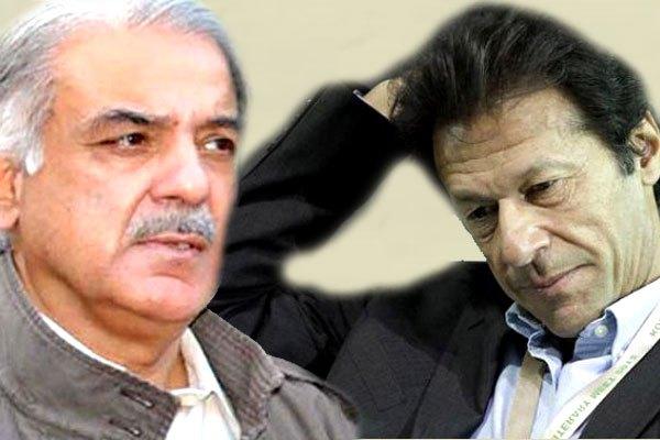 Tehreek-e-Insaf chairman Imran Khan and PML-N Shahbaz Sharif