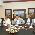 The party's main meeting was held under PTI Chairman Imran Khan, including other leaders of the party, including Shah Mehmood Qureshi, Jehangir Tareer.