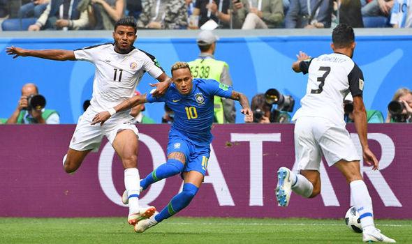 Brazil beat Costa Rica 2-0