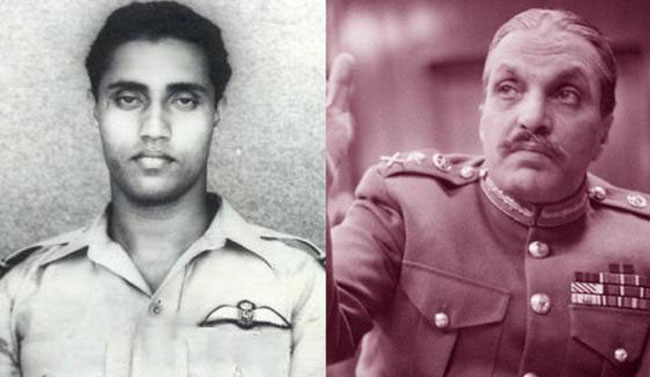 Pakistan Air Force Lieutenant Saiful Azam and Brigadier Zia ul Haq