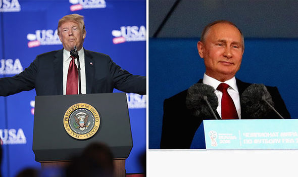 US President Donald Trump and Russian President Putin