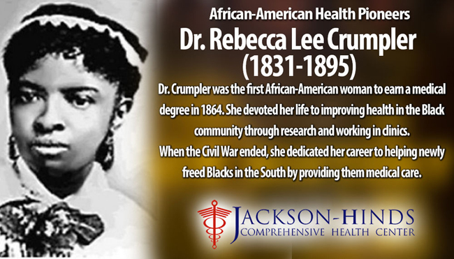 Rebecca Lee Crumpler is the first black woman to have a reputation as a Physician and Doctor of Medicine in the United States.