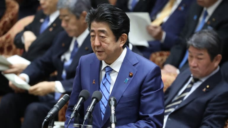 But Japan's stock prices plummeted on Tuesday, amid the growing uncertainties about the global economic outlook
