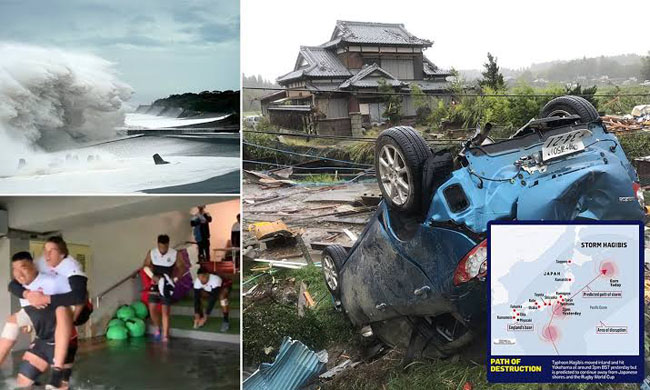 Typhoon Hagibis, the most powerful nation in Japan's history, has wreaked havoc on Saturday morning.
